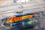 BNSF 6620 sits in the staging siding waiting for her next train.